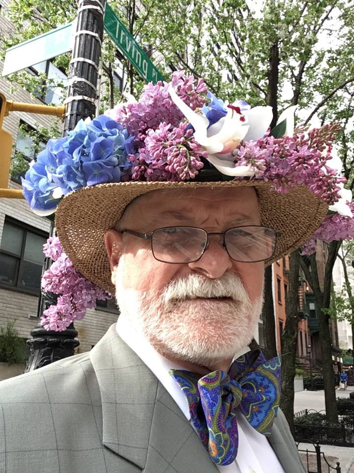 John - lilac hat